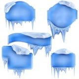 Set of winter frames royalty free illustration