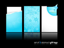 Set of winter gift cards Royalty Free Stock Photos