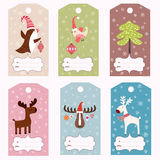 Set of winter gift tags stock illustration