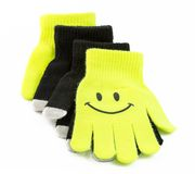 Set of winter gloves with touch pad feature Royalty Free Stock Images