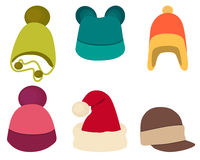Set winter hat. On white background. Vector illustration Royalty Free Stock Image