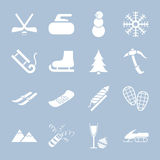 Set of winter holiday icons Royalty Free Stock Photography