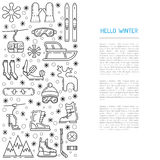 Set winter icon Royalty Free Stock Photography