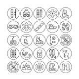 Set winter icon Stock Images