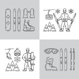 Set winter icon Royalty Free Stock Images