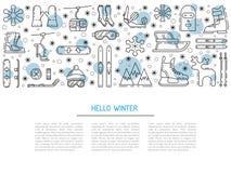 Set winter icon Stock Photo