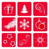Set winter icons. Stock Photo