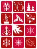 Set winter icons. Stock Photo