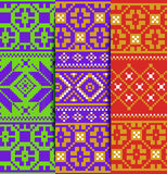 Set winter knitted pattern Stock Photography