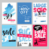 Set of winter mobile sale banners Stock Image
