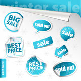 Set of winter sale elements () Stock Photos