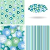 Set of winter seamless patterns and decor elements Royalty Free Stock Photography