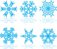 Set of winter snowflakes Stock Images