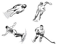 Set -- winter sport Stock Images