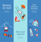 Set of winter sport banners. Royalty Free Stock Photography