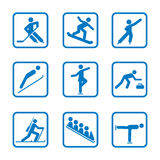 Set of winter sport icons Royalty Free Stock Photo