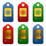 Set of winter tags in trendy color. Royalty Free Stock Image