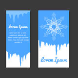 Set of winter template with place for text for flyers, coupons Royalty Free Stock Photography
