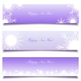 Set Winterweihnachtsfahnen Stockbild