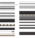Set of wire and cable brushes Stock Images