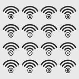 Set of wireless icon. Stock Image