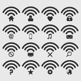 Set of wireless icon. Stock Images