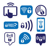 Set of wireless icons, vector illustration Stock Photography