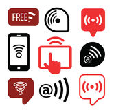 Set of wireless icons, vector illustration Royalty Free Stock Image