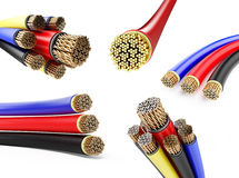 Set wires 3D illustration royalty free illustration