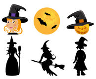 Set of witches Royalty Free Stock Photo