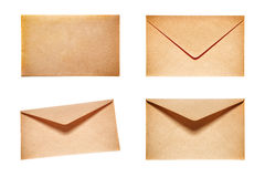 Free Set With 4 Yellow Envelopes Royalty Free Stock Photography - 89798597