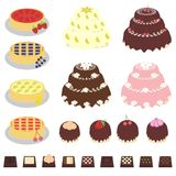Set With Desserts Royalty Free Stock Images