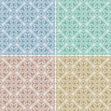 Set With Four Seamless Patterns Stock Image
