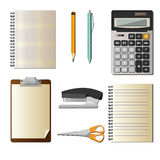 Set With Office Objects Royalty Free Stock Photos