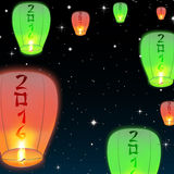 Set wizerunki Chińscy lampiony Obraz Stock