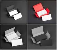 Set wizytówki w pudełkach Fotografia Stock