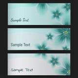 Set wizytówki z Kwiecistym wzorem Zdjęcia Stock
