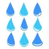 Set wod krople, akcyjna wektorowa ilustracja royalty ilustracja