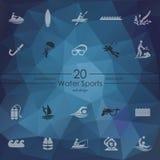 Set wodnych sportów ikony Zdjęcie Royalty Free