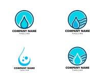 Set wody kropli logo projekta elementu wektorowej ilustracyjnej ikony kropelkowa energetyczna natura ilustracja wektor