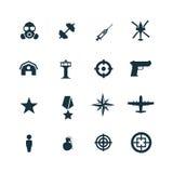 Set wojsko ikony Fotografia Royalty Free
