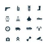 Set wojsko ikony Zdjęcie Stock