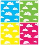 Set Wolkenvektorhintergründe stock abbildung