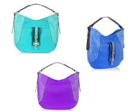Set of woman bags on white royalty free stock photography