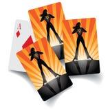 Set of woman cards. Stock Photos