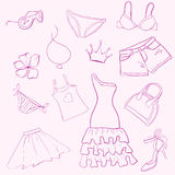 Set woman clothes Royalty Free Stock Images