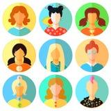 Set of woman, girl japan, punk, emo, teacher. vector illustratio. Set of woman, girl japan, punk, emo, teacher vector illustration Royalty Free Stock Image