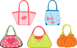 Set woman's bags Stock Photos