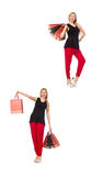 The set of woman with shopping bags Stock Photography