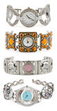 Set of woman watches Stock Images